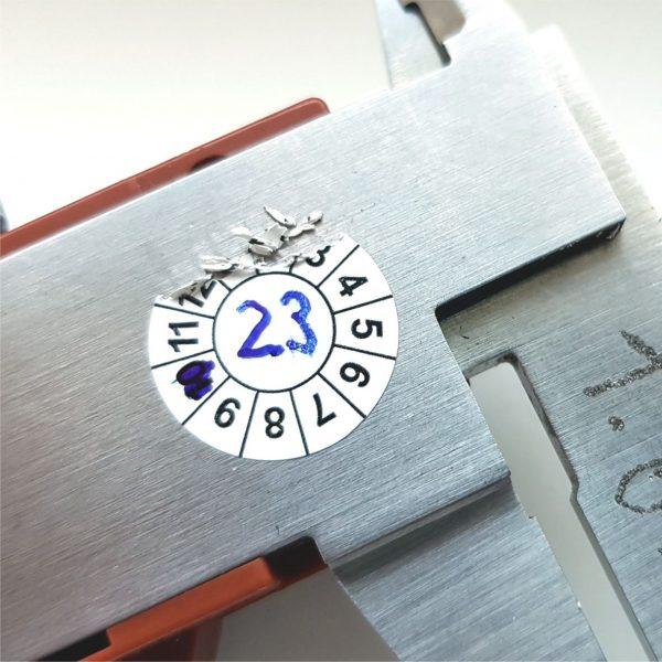 Prüfplaketten zum selber beschriften aus Sicherheitsfolie