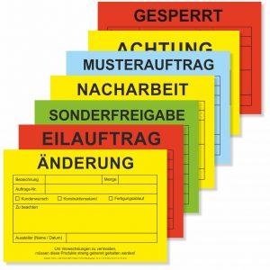 QS-Kennzeichnung mit Kennzeichnungskarten DIN A5 / DIN A6
