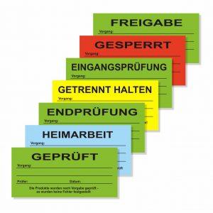 QS-Kennzeichnung mit Kennzeichnungskarten