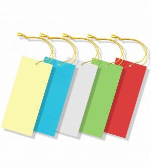 Hängeetiketten farbiger Karton mit Schnur - unbedruckt
