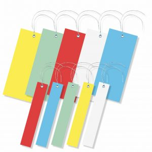 Hängeetiketten mit Draht - unbedruckt - viele Farben