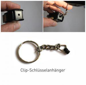 Clip Schlüsselanhänger für Trodat Prüferstempel