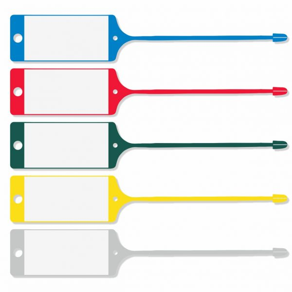 Schlaufenetiketten Kunststoff verschiedene Farben - zum selbst beschriften