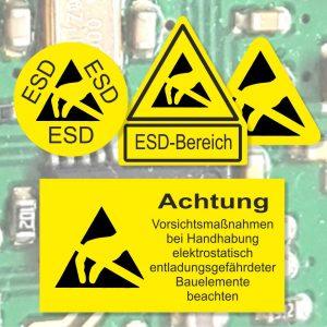 ESD Etiketten zum Schutz elektronischer Bauteile