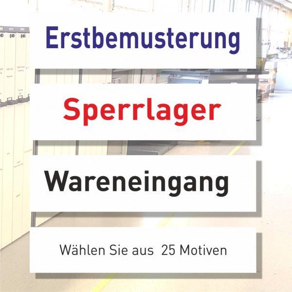 QS-Schilder 25 Motive zur Auswahl wie z.B. Sperrlager