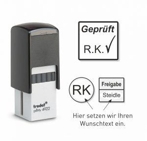 QS-Stempel als Stempelautomat
