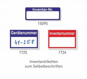 Inventar- und Nummeretiketten aus Haftfolie