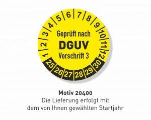 DGUV 3 DA Plakette