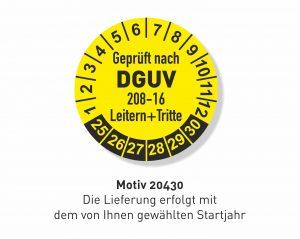 DGUV 208-16 Leitern und Tritte Prüfplakette