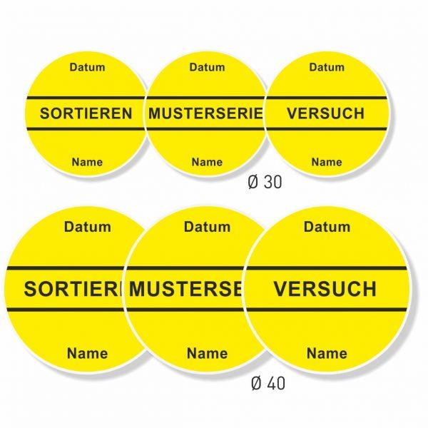 QS-Aufkleber gelb leicht wieder ablösbar