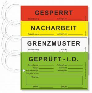 Hängeetiketten aus Karton mit Draht - QS-Texte