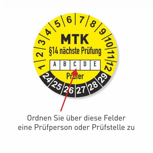 MTK §14 Prüfplaketten 2014