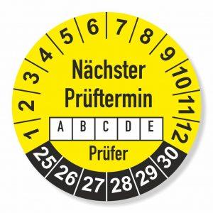 Prüfplaketten 2025 Ø 25 mm Nächster Prüftermin