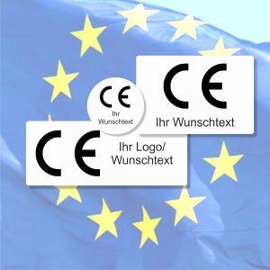 CE Etiketten auch mit Ihrem Logo