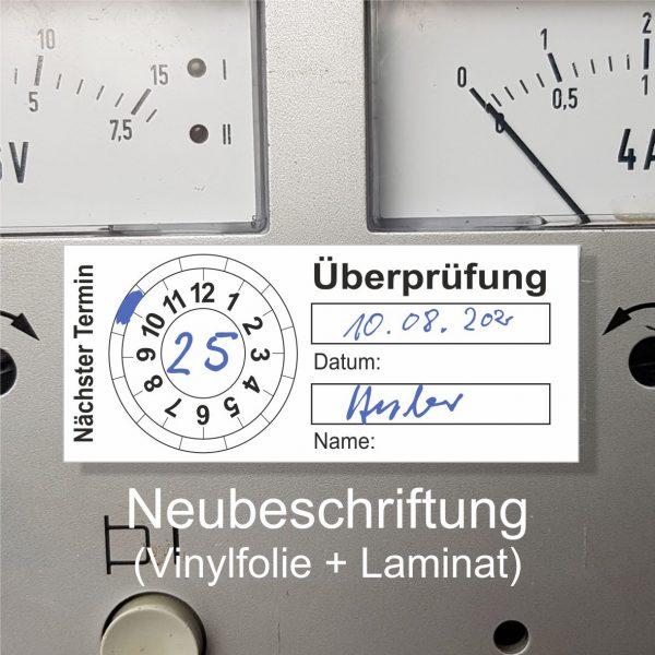 Prüfplaketten 20 x 50 mm - zum selbst beschriften