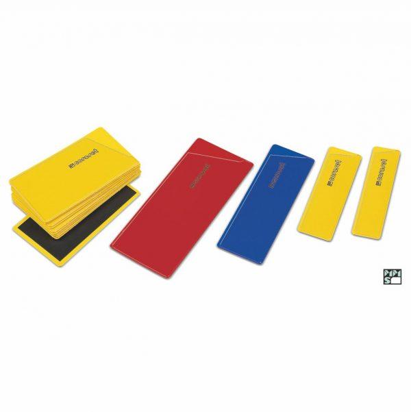 Farbige Etikettenhalter - magnetisch