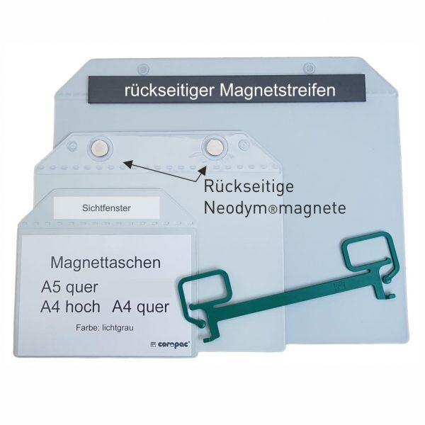Magnettaschen DIN A4, DIN A5, und DIN A6